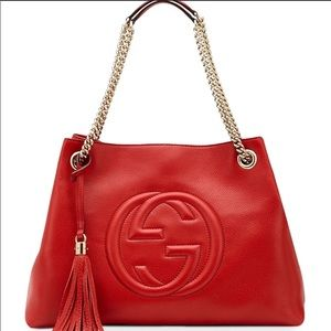 Gucci red soho bag